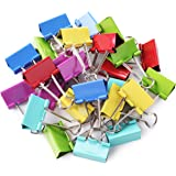 Mr. Pen- Binder Clips, 1.25 inch, 25 Pack, Medium, Colored Binder Clips, Binder Clips Medium Size, Color Binder Clips…