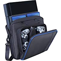 Carrying Case for PS4 Console/Controller/Accessories, Travel Shoulder Messenger Handbag Gaming Storage Bag with…