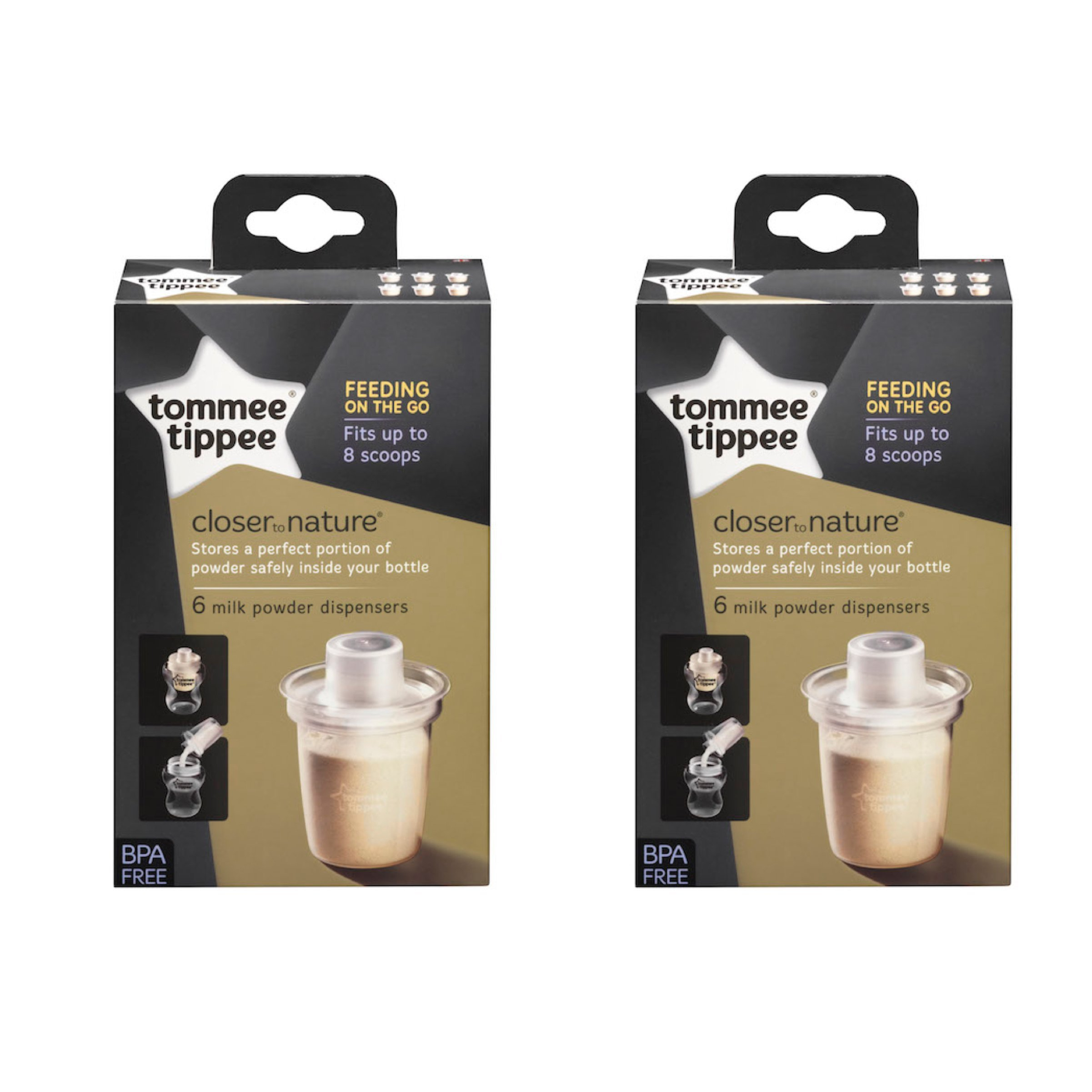 Tommee Tippee CTN Milk Powder Dispensers (6pk)