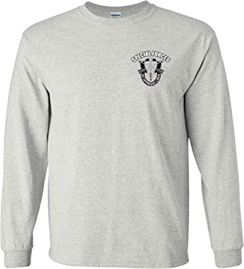 COTDREN American Flag US Army Rangers Special Forces Boys Cotton Long Sleeve Tshirt