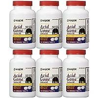 Acid Gone Antacid Chewable Generic for Gaviscon Extra Strength Chewable Tablets 100 Ct. Per Bottle Pack of 6 Bottles Total 600 Tablets