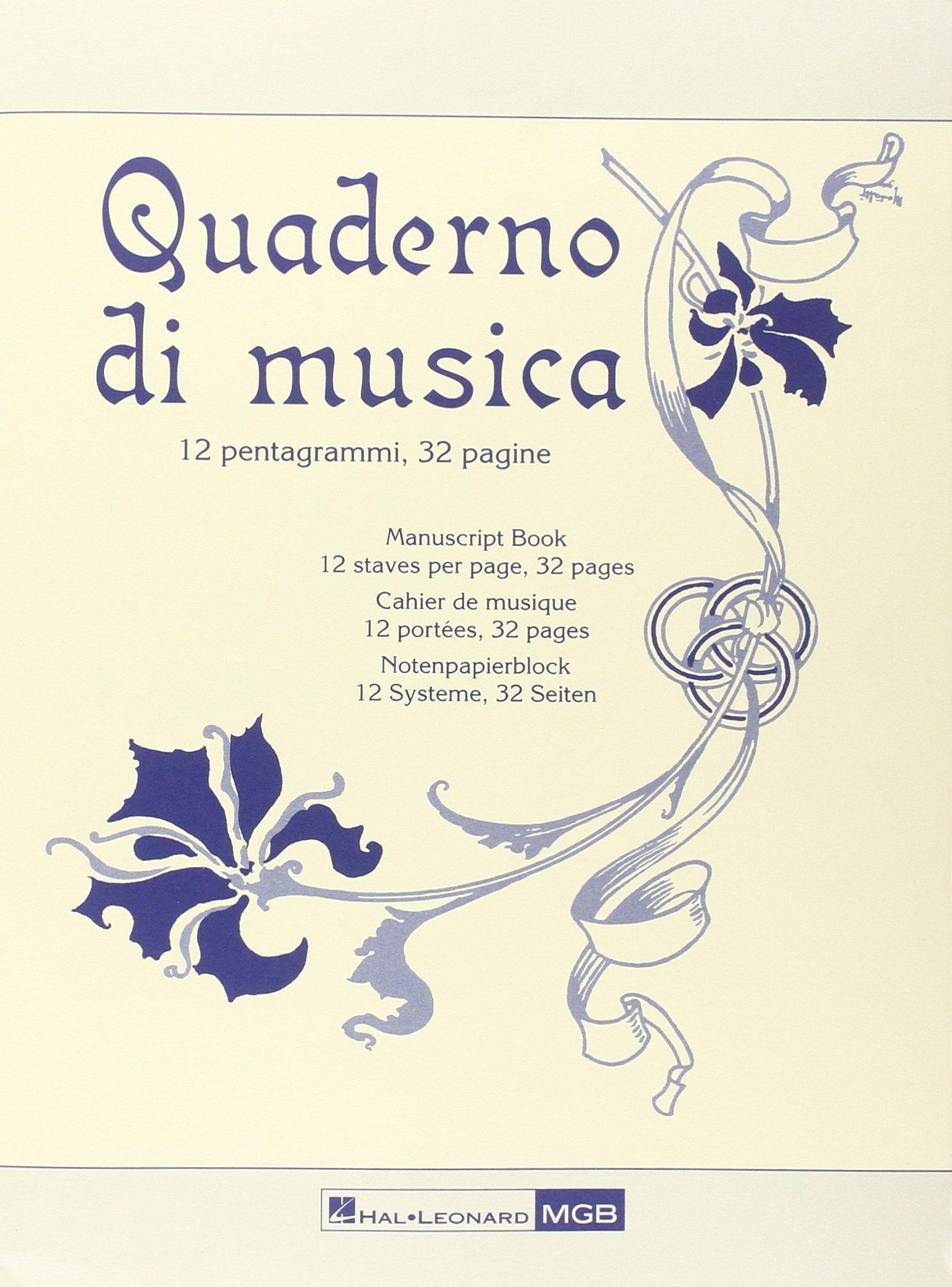 Quaderno Musica 32 Pagine Quaderni Di Musica