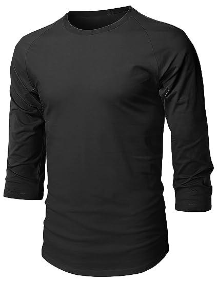 Hat and Beyond Mens Baseball Raglan 3 4 Sleeve T Shirts 1HCA0008 (Small a167b64f6eb2