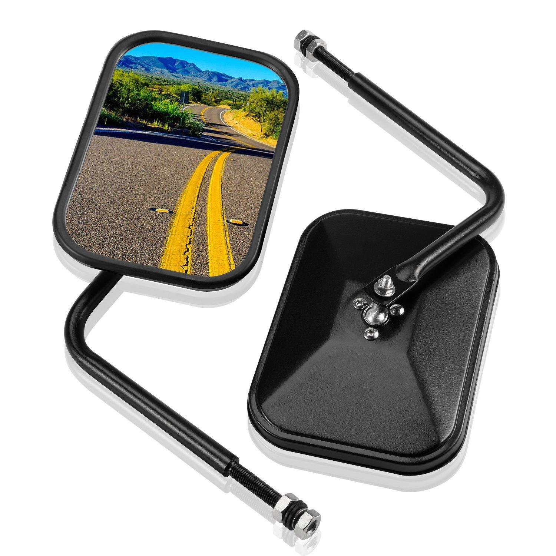 2 Pcs JKU Rubicon. for Jeep JK CJ YJ TJ JL 1945-2018 Driver Side View Mirrors Unlimited Sahara Right // Left Jeep Quick Release Mirror Bosmutus Rear View Mirror Jeep Wrangler Rearview Mirrors Sport