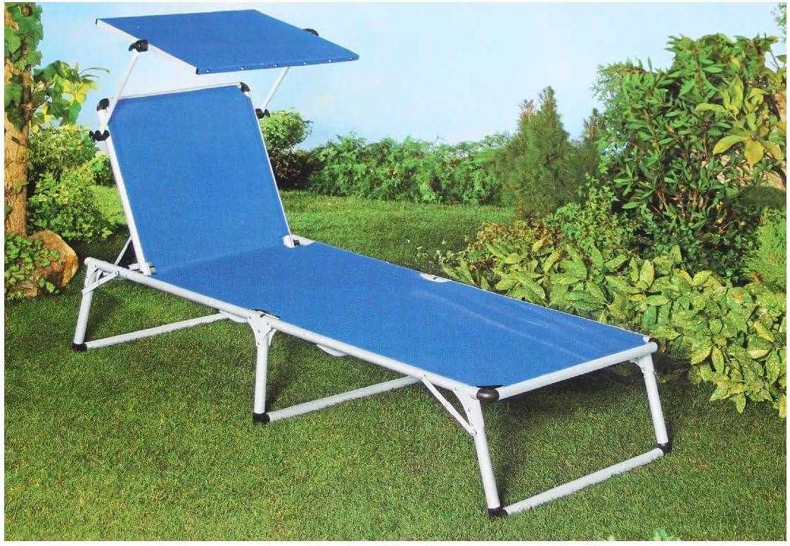 Tumbona Flora Best aluminio – Tumbona con techo solar jardín Respaldo 5stufig