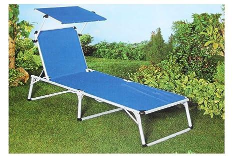 Tumbona Flora Best Aluminio - Tumbona con Techo Solar jardín ...
