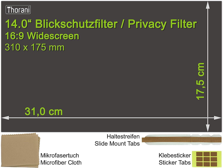 Thorani Filtre de Confidentialit/é I Film de Protection d/'/Écran pour Ordinateur Portable I Notebook 12.1 Pouces 16:9 Magn/étique