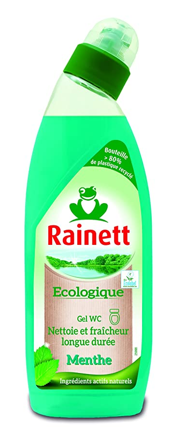 RAINETT Cuidado del producto Gel WC ecológico Menta 750 ml Pack de 3