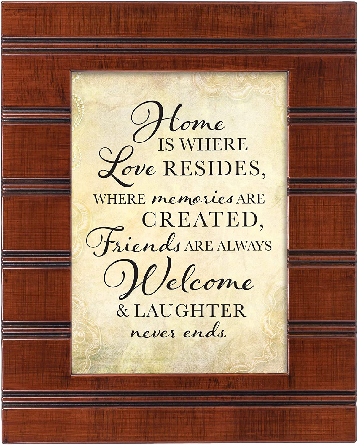 Cottage Garden Home is Where Love Resides Woodgrain Beaded Board 5 x 7 Table Top and Wall Photo Frame