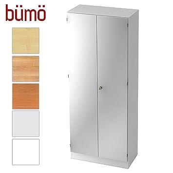 Büroschrank weiß abschließbar  Bümö® Office Aktenschrank abschließbar aus Holz inkl. 4 ...
