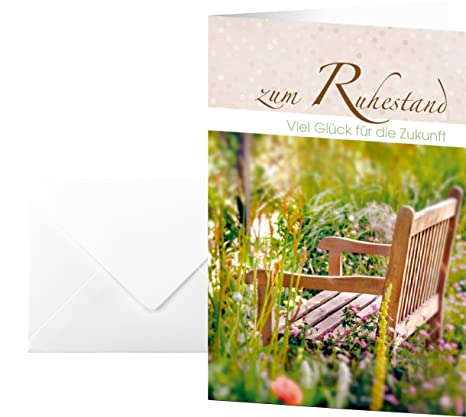 amazon com sigel retirement greetings card ruhestand office products