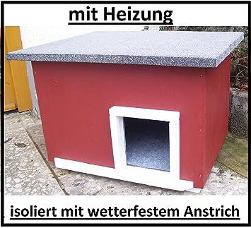 Lösche Holzbau Gato con calefacción de casa Sueco Caseta Gato Lanzamiento Caja Impermeable Aislado beheizt