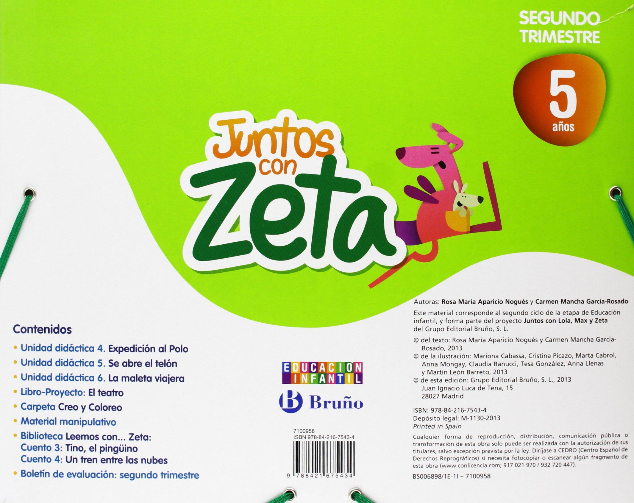 Juntos con Zeta 5 años Segundo trimestre: 9788421675434: Amazon.com: Books
