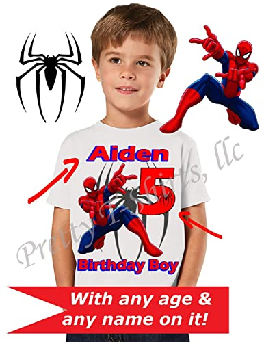 71fa6f89e Spider Man Birthday Shirt, We ADD any name and age on it, Family Birthday  Shirts, Spider-Man Birthday Shirt, Spiderman Party Favor, Spider man Shirt,  ...