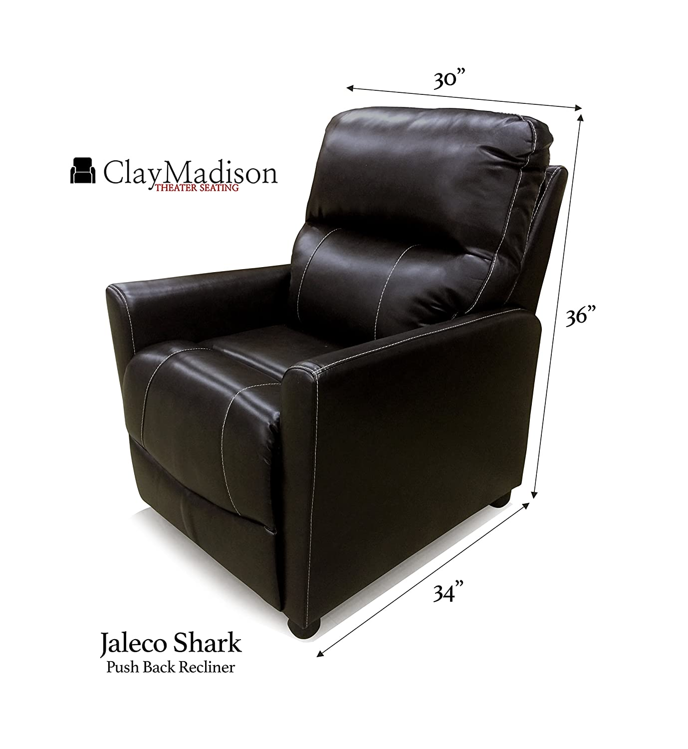 Amazon RV Push Back Recliner Chair Jaleco Collection by Clay