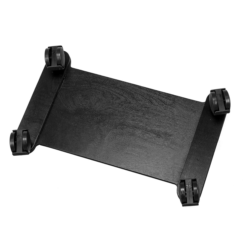 Soporte para ordenador de sobremesa Cemab carro porta PC de madera con ruedas nogal