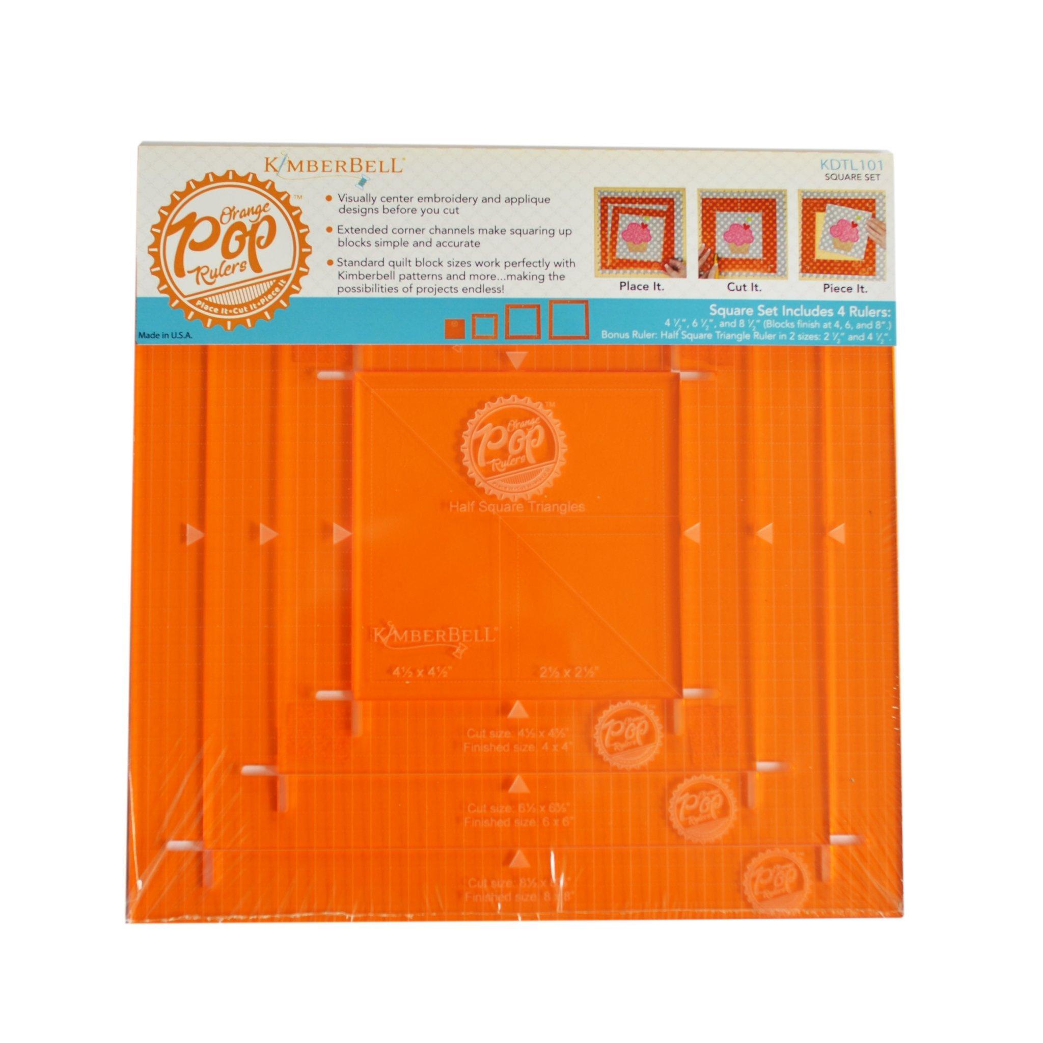 Kimberbell KimberBell Orange Pop Ruler Set - Square, Multi by Kimberbell