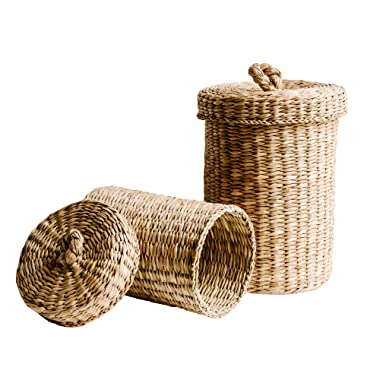 DUFMOD Handwoven Seagrass Jars (x2 Pieces)