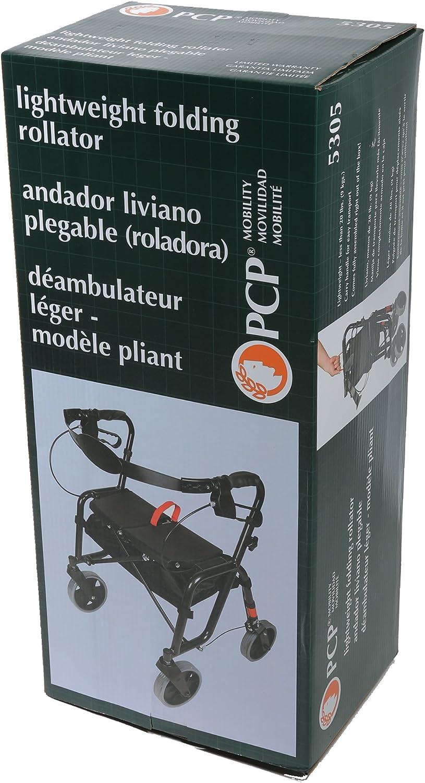 Amazon.com: PCP andador plegable ligero con Walker, color ...