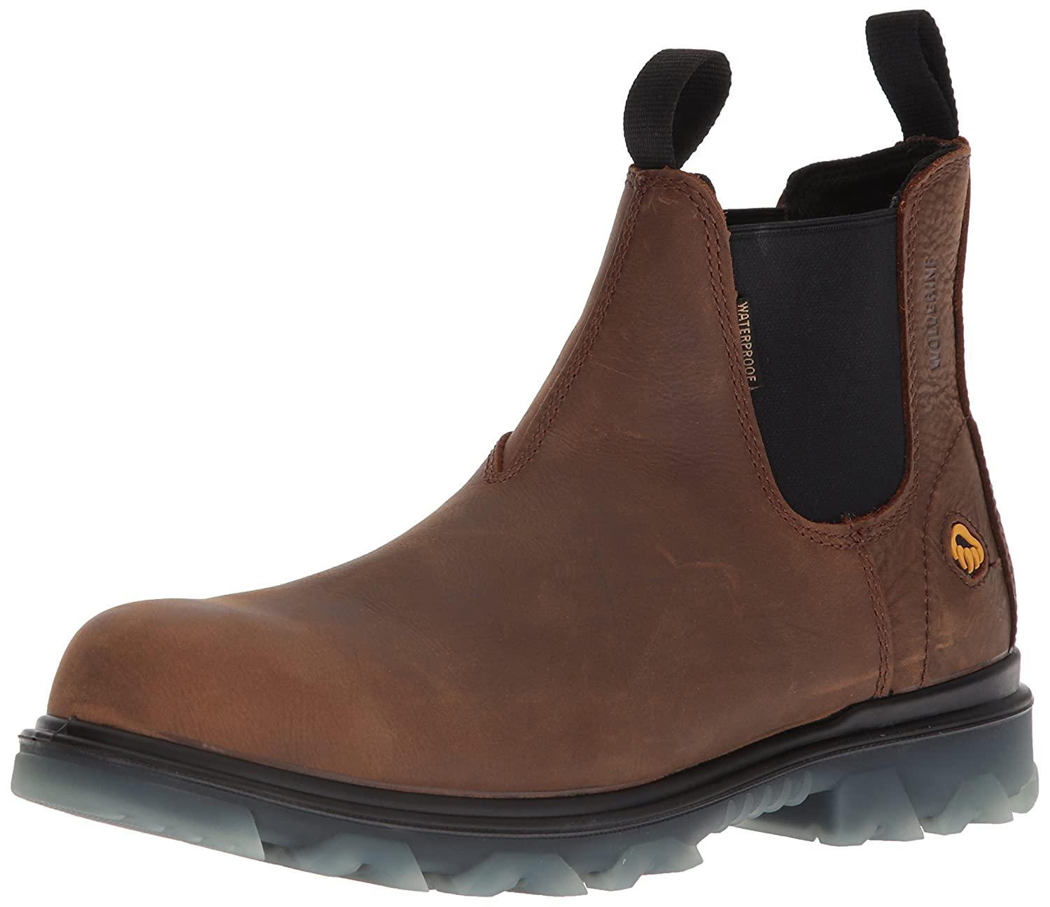 0bd3784ec6b Wolverine Mens I-90 Waterproof Composite-Toe Romeo Slip-on Construction Boot