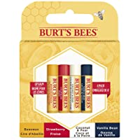 Burt's Bees 100% Natural, Moisturizing Lip Balm, with Beeswax and Fruit Extracts, Assorted 4 pack