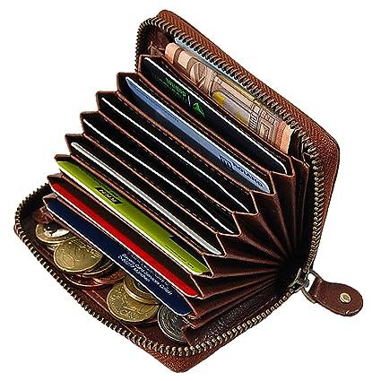 Schwarz BOCCX Universal Kreditkartenetui Geldb/örse Leder Visitenkartenetui mit Rei/ßverschluss 50010 pr/äsentiert von GoBago