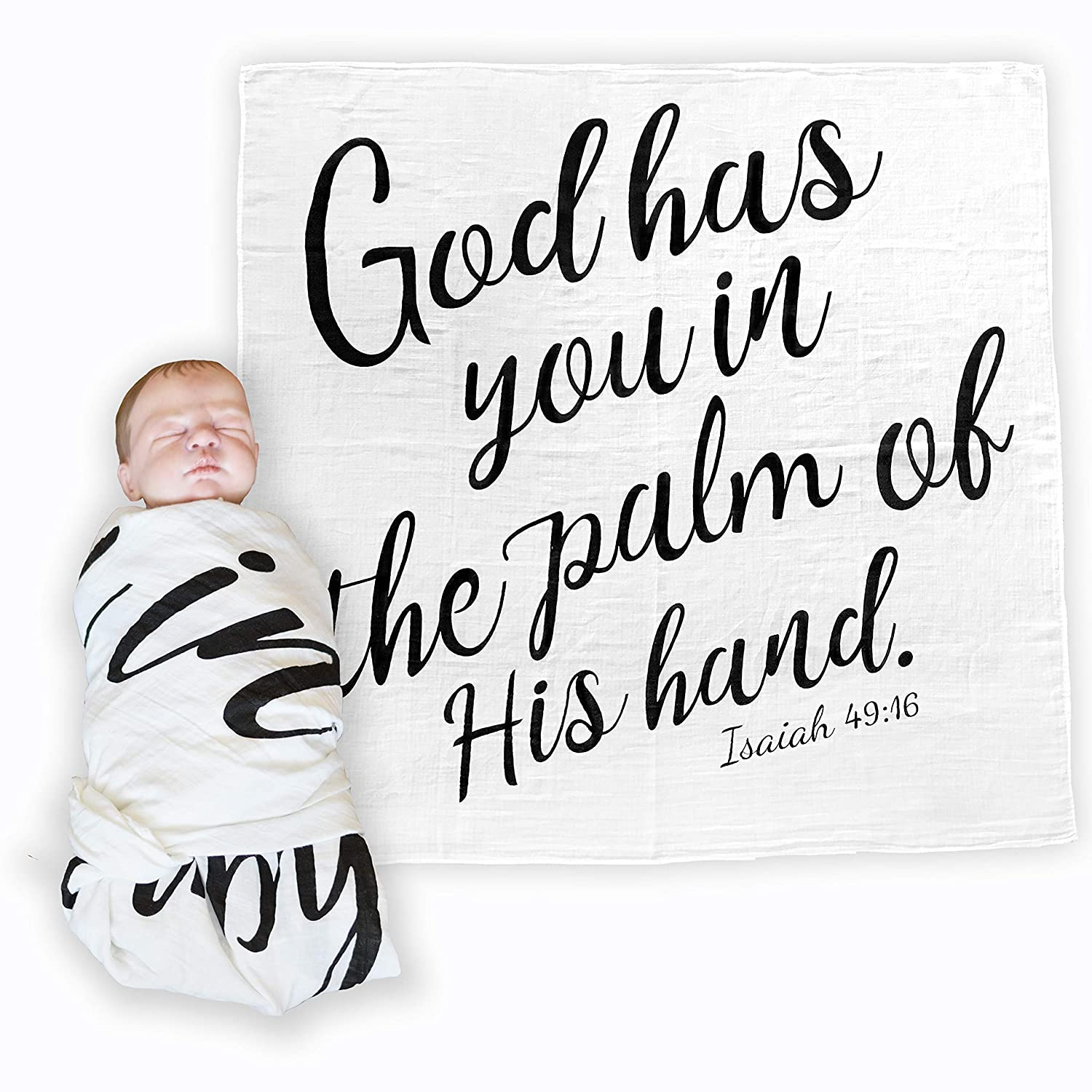 Amazoncom Bless Our Littles Baby Swaddle Scripture Blanket With