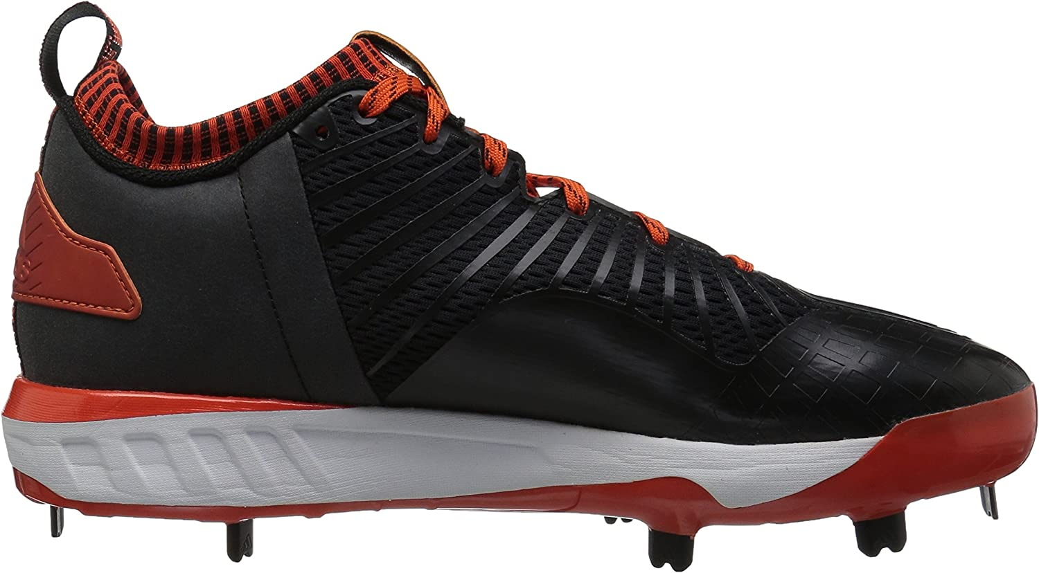 adidas Men's Boost Icon 3 Baseball Shoe Black/White/Collegiate Orange