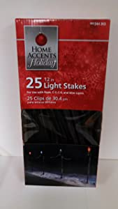Home Accents Holiday 25 ct. Universal 12 in. Light Stakes