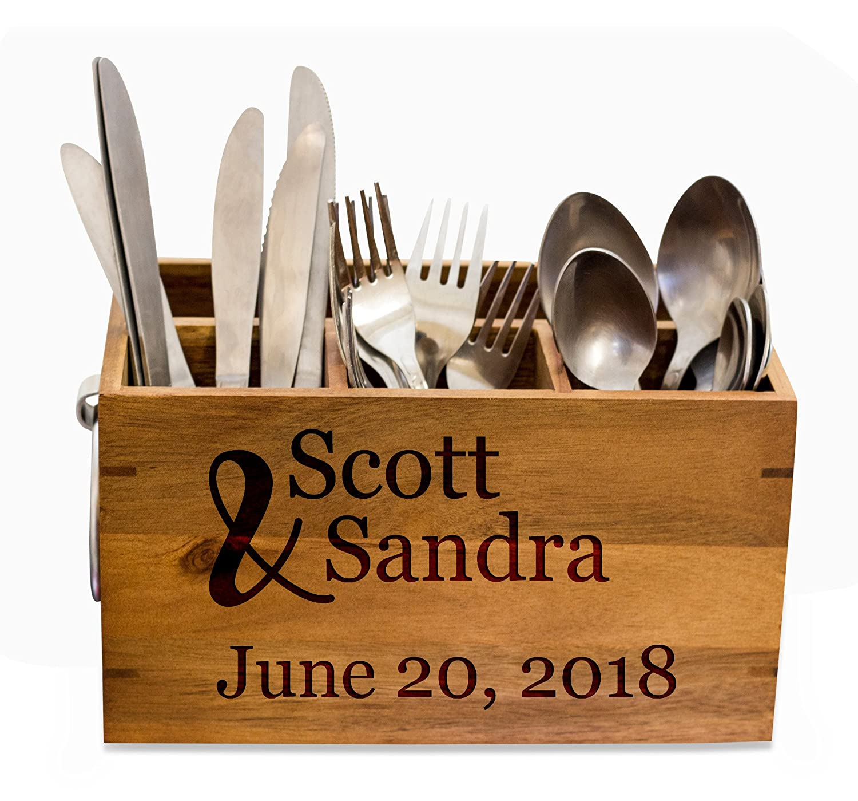 Amazon.com: Couple Silverware Caddy, kitchen Utensil Holder ...