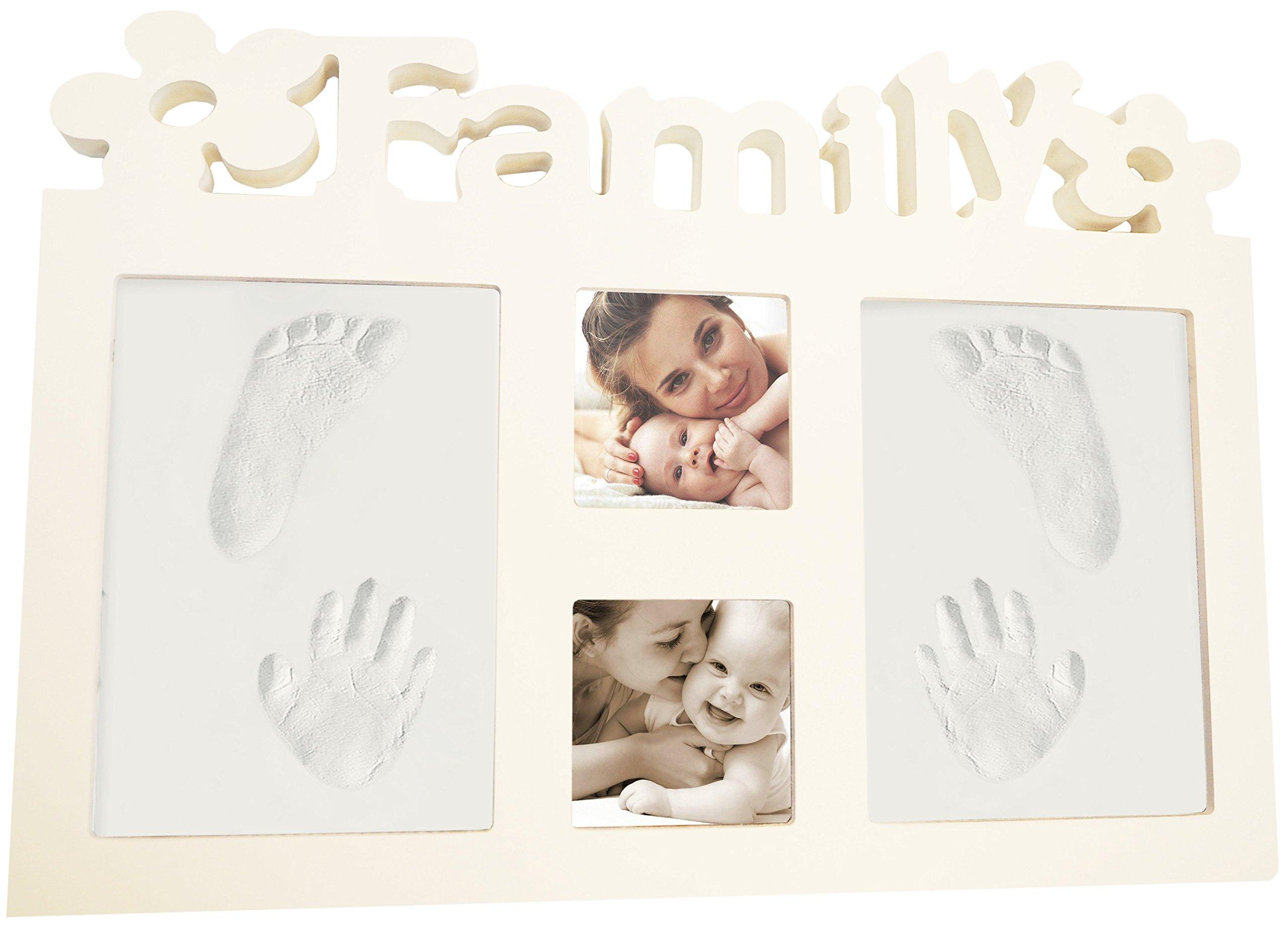 Babyprint Photo Frame Baby Handprint Impression Kit Clay Footprint Keepsake Baby Shower Gift for Room Wall Decor