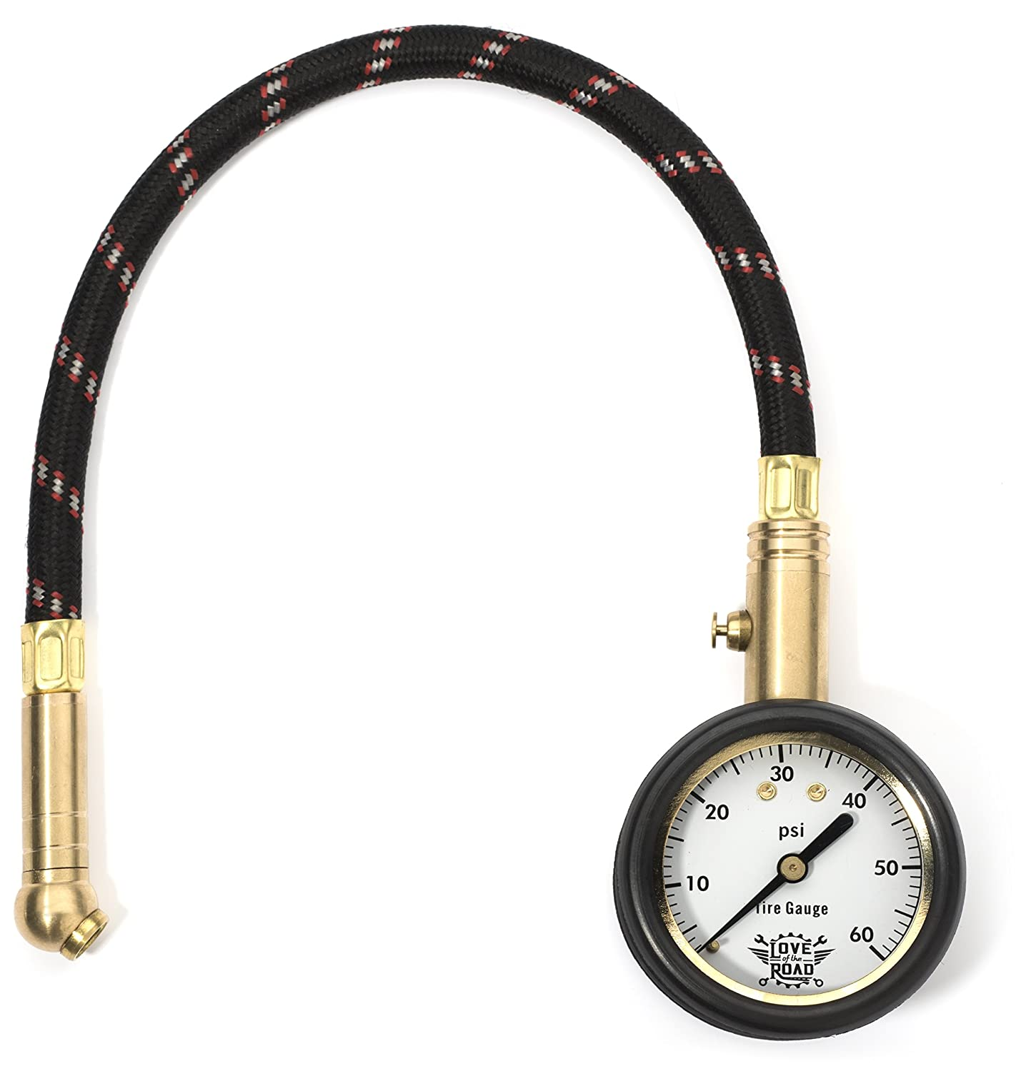 love of the road tire pressure gauge for tires 60 psi 646437719759 ebay. Black Bedroom Furniture Sets. Home Design Ideas