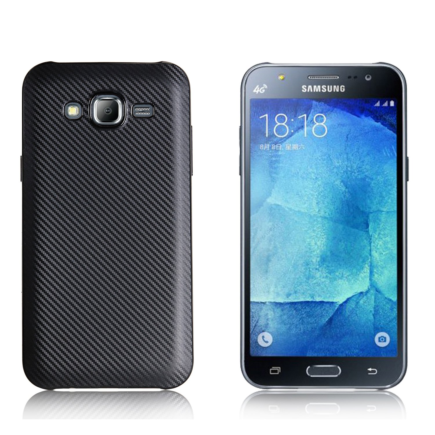 online retailer edf84 9c891 Case for Samsung Galaxy J7 Core 2017 SM-J701F/DS Case TPU Silicone Soft  Shell Cover Black
