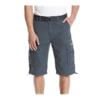 Unionbay Men's Cordova Belted Messenger Cargo Short - Reg and Big and Tall Sizes, grenade, 36