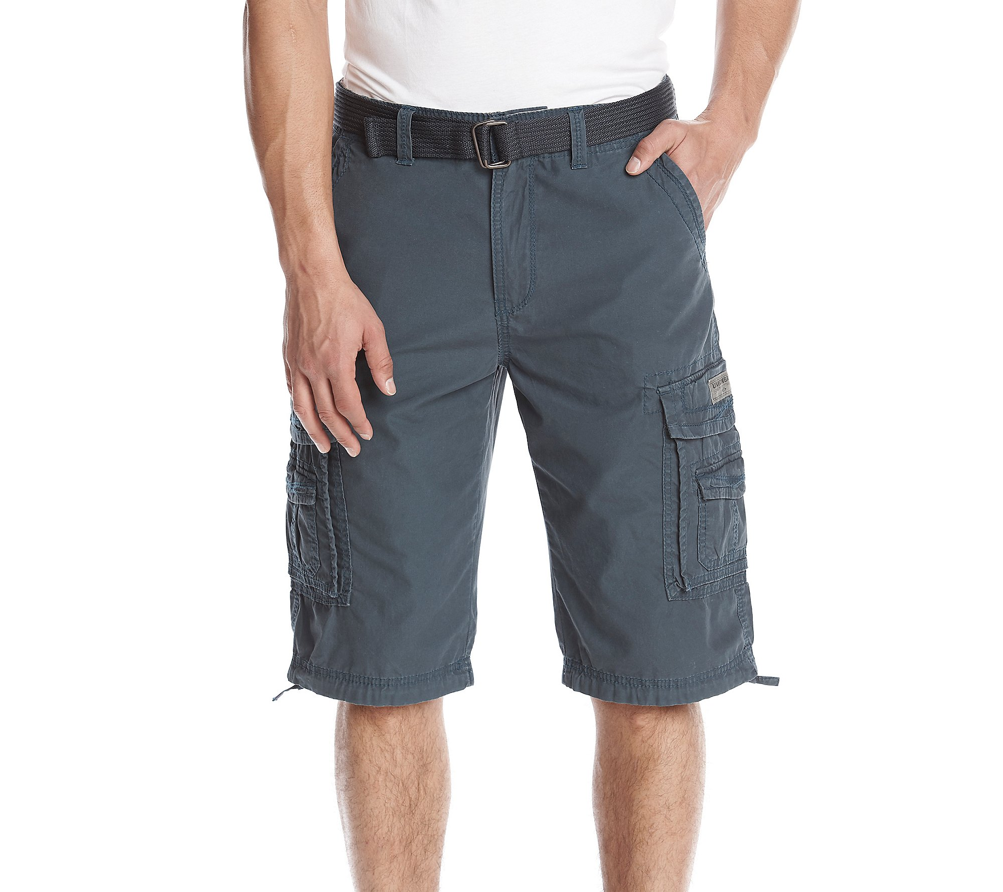 UNIONBAY Men's Cordova Belted Messenger Cargo Short - Reg and Big and Tall Sizes, Grenade, 40