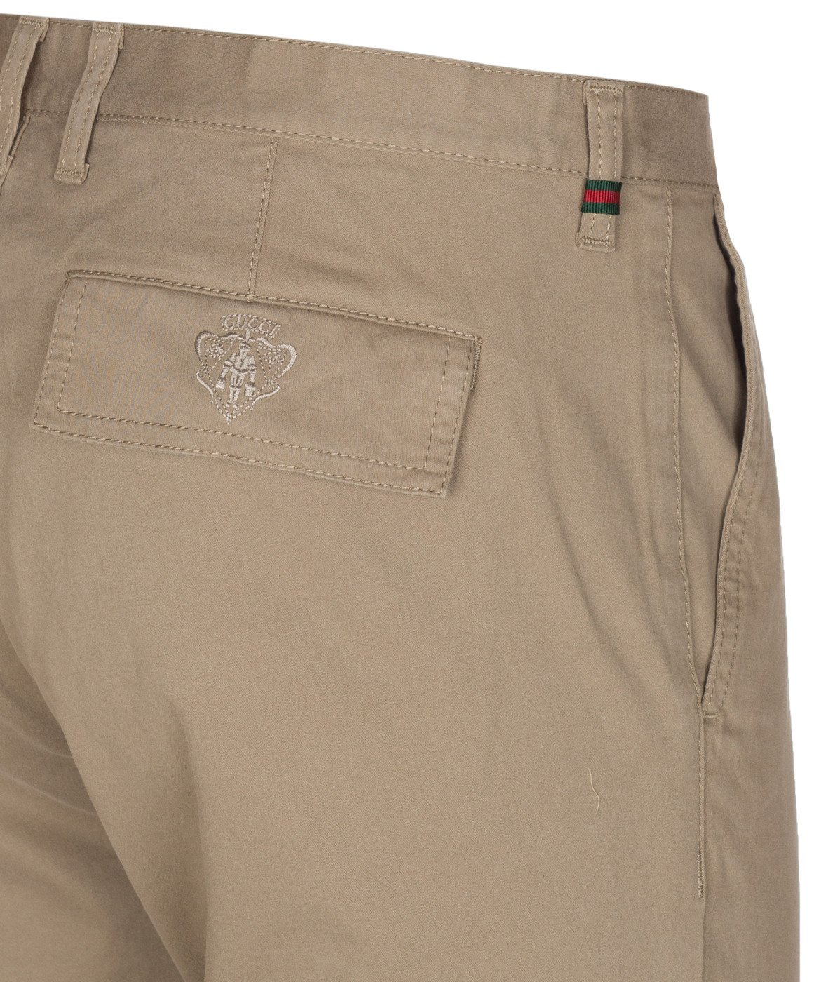 Gucci Men's Softened Stretch Cotton Short Chino Casual Pants, Beige, 28 by Gucci (Image #7)