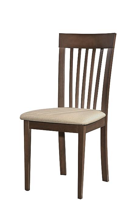 Cairo 2x Solid Wood Dark Walnut Dining Chair Modern Leather Seat Soft PU Fabric Foamed Furniture