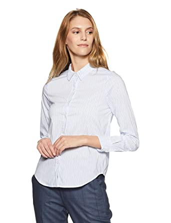 c6b01d4473 Forever 21 Women s Plain Slim Fit Shirt  Amazon.in  Clothing   Accessories