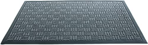 Imports Decor Synthetic Rubber Mat, 24-Inch by 36-Inch, Grey