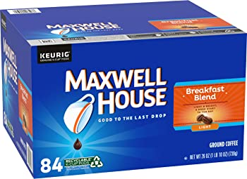84-Count Maxwell House Breakfast Blend Light Roast K-Cup Coffee Pods