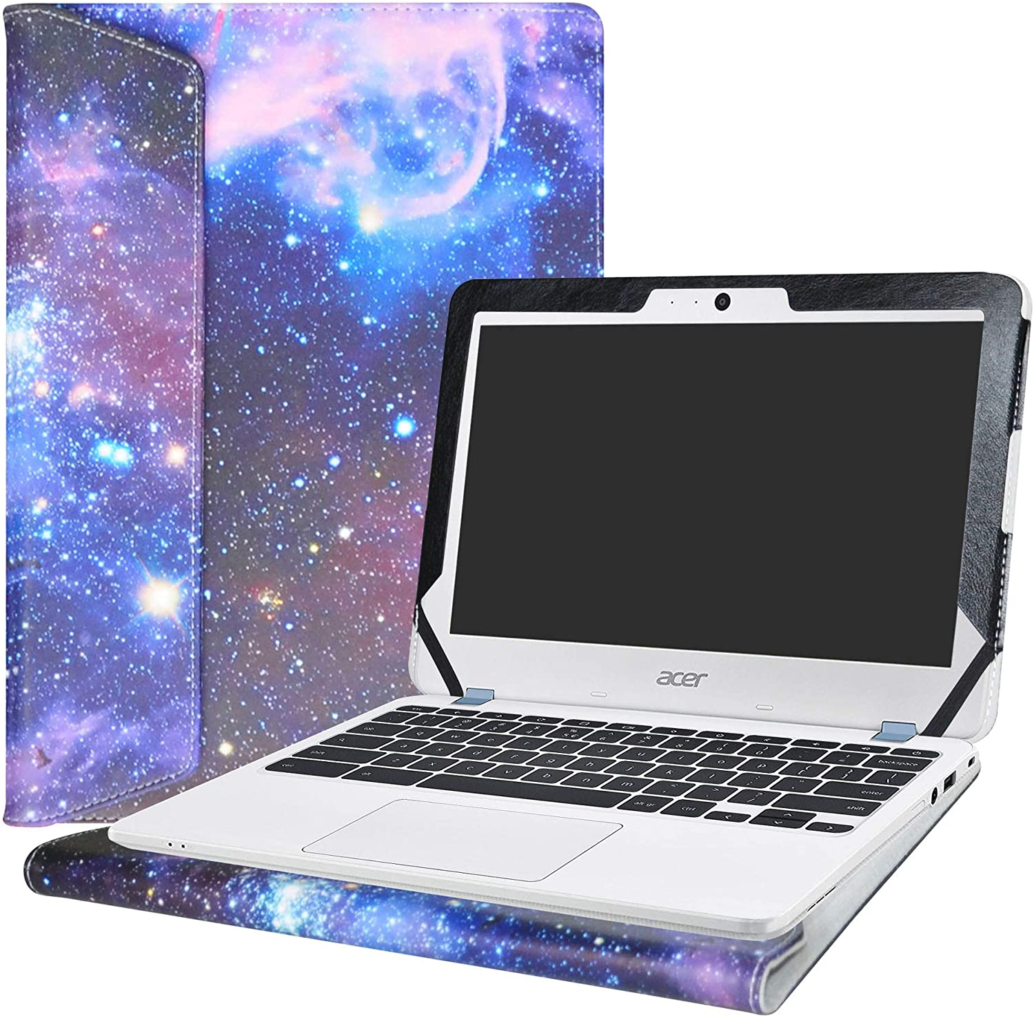 """Alapmk Protective Case Cover for 11.6"""" Acer Chromebook 11 C771T C771 & Chromebook Spin 11 CP311-1HN R751T CP511-1HN R751TN & Chromebook 11 N7 C731T C731 CB311-7H CB311-7HT Series Laptop,Galaxy"""