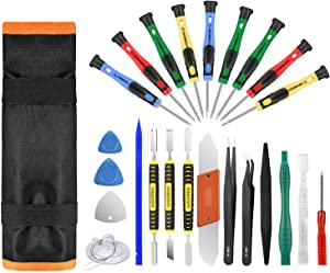 25pcs Electronics Repair Tool Kit, GangZhiBao Precision Screwdriver Set Magnetic for Fix Apple iPhone,Cell Phone,Smart Watch,Computer,PC,Tablet,iPad,Camera,Xbox,PS4 Pry Open ReplaceScreen Battery