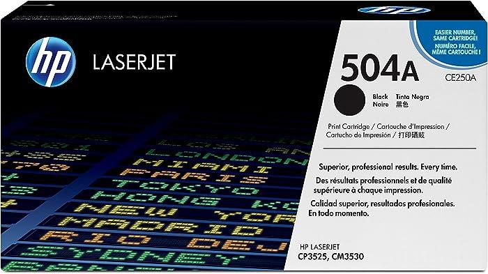 HP 504A | CE250A | Toner Cartridge | Black, 1 Size