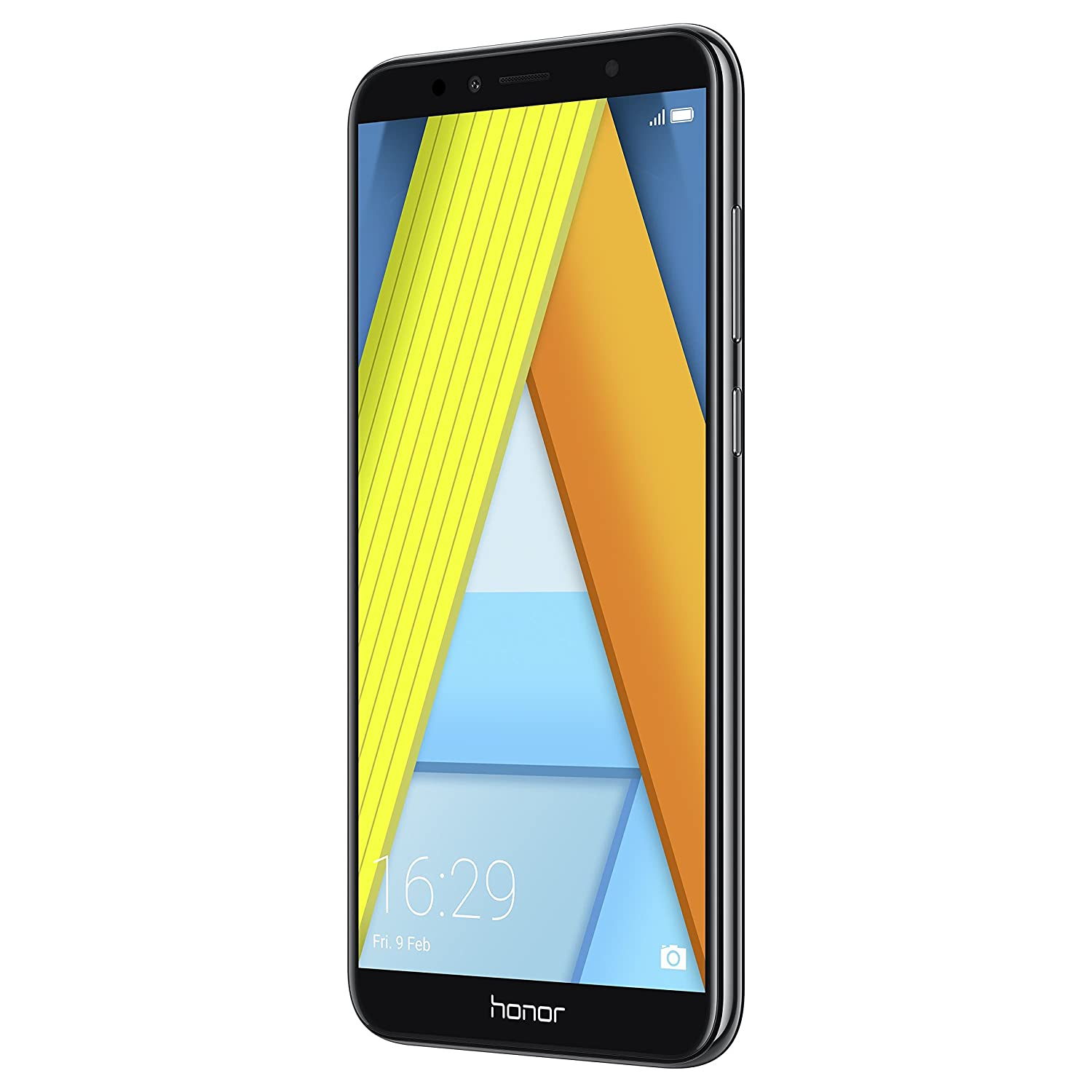Honor 7A Dual SIM, 16 GB storage, 13 MP Camera and 5 70 Inch Full View  Display, UK Official Device - Black