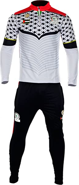 Conjunto Chándal Palestina CZ228 blanco y negro blanco small ...