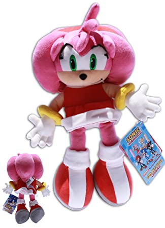 Amy Rose 32cm Sonic X Muñeco Peluche Eriza Rosa Novia Rosy Rascal Videojuego Sega Calidad Extra