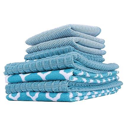 Simmer Stone Toallas de Cocina 100% algodón, Ultra absorbentes y de Secado rápido,