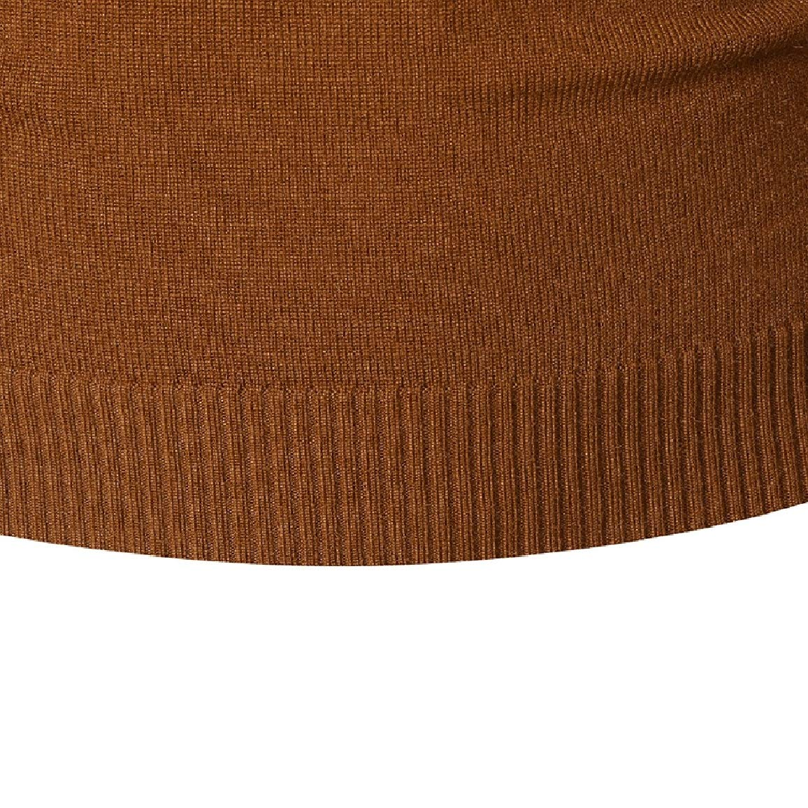 Nicelly Men Crew Neck Comfy Stretchy Splice Pullover Knitted Jersey Sweaters