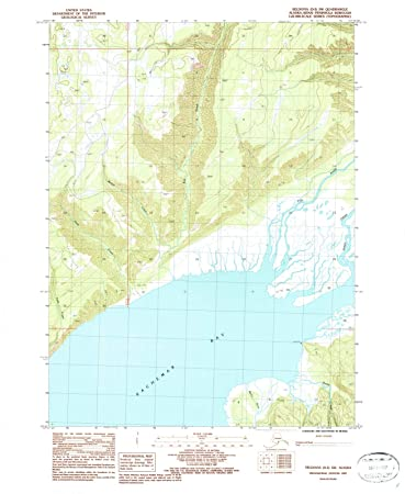 Amazon Com Alaska Maps 1987 Seldovia Ak Usgs Historical
