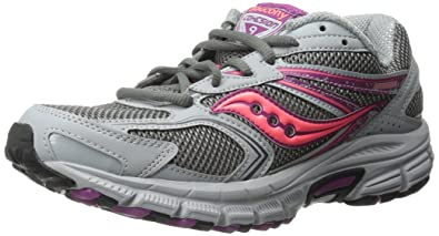 Saucony Women's Cohesion TR9 Trail Running Shoe, Grey/Berry/Coral, ...
